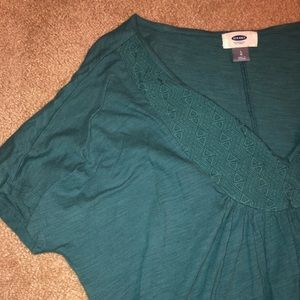 Old Navy Tops - Old Navy Teal V-neck
